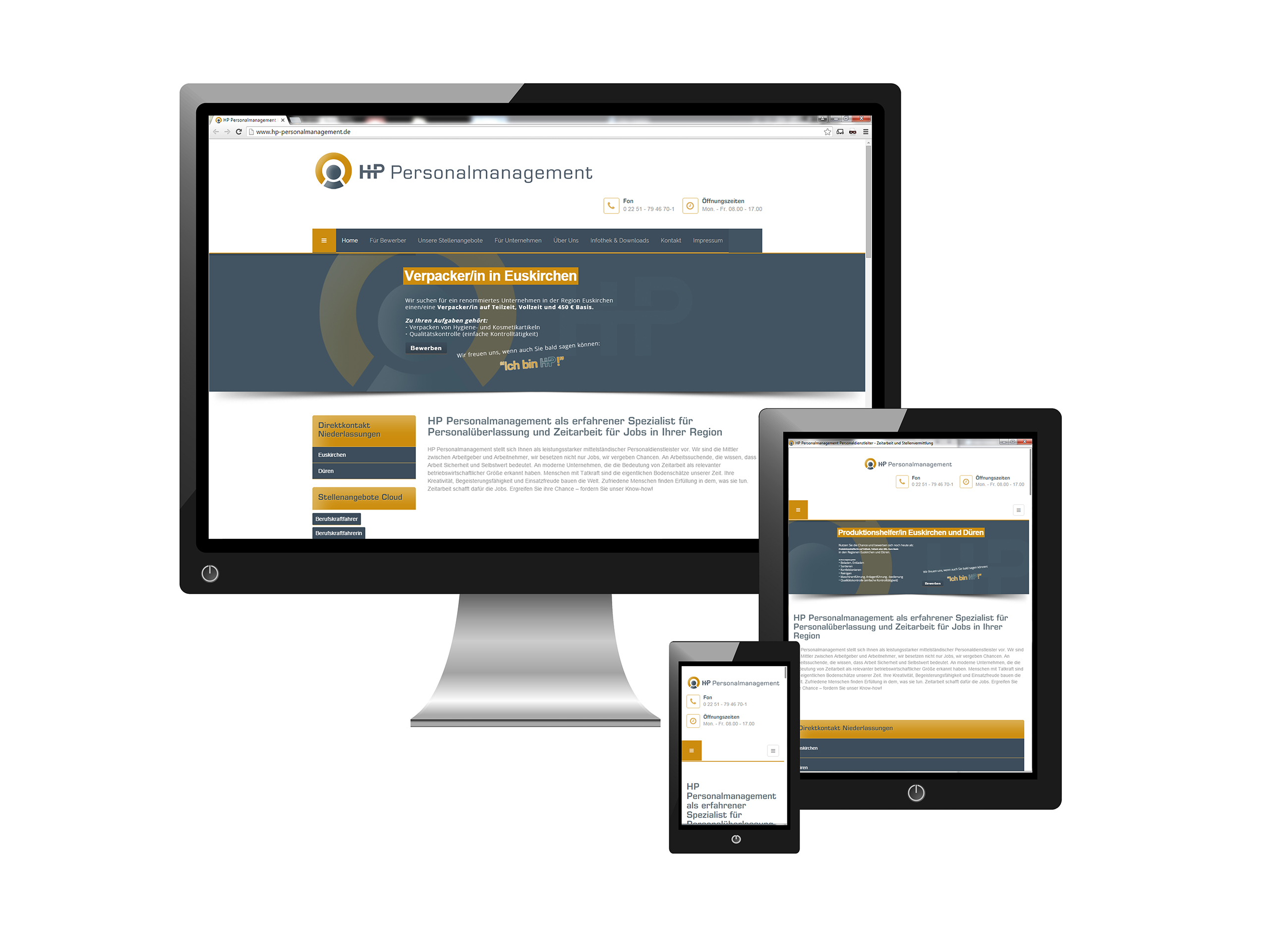 Redesign Website HP Personalmanagement